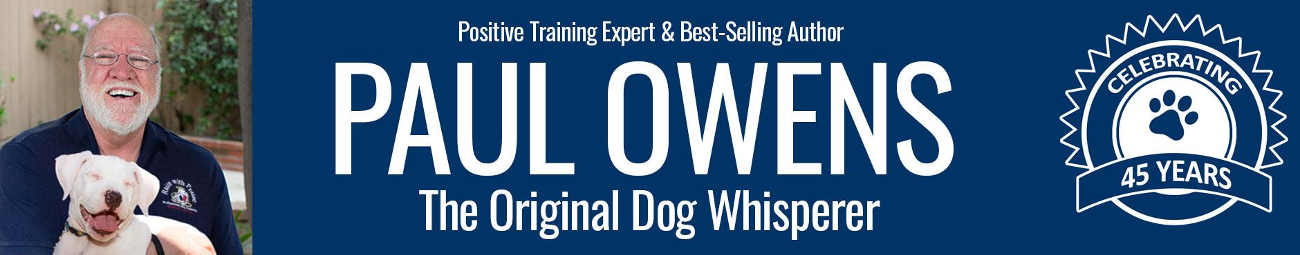 Paul Owens, the Original Dog Whisperer Logo